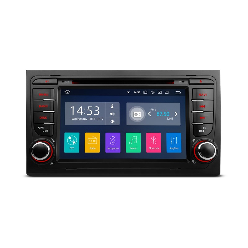 radio android 8 1 gps dvd 2 din 7 para audi a4 seat exeo. Black Bedroom Furniture Sets. Home Design Ideas